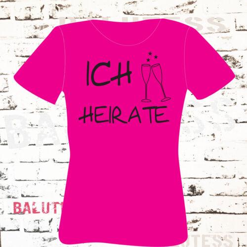 JGA,Junggesellinnenabschied T-Shirt,Braut Security,Trauzeugin,NEU 2019,Damen
