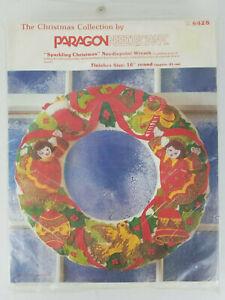 Paragon-Sparkling-Christmas-Wreath-Kit-6428-New-Unopened-Virginia-Ballman