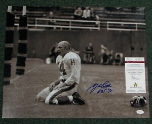 Y-A-Tittle-D-2017-Signed-Auto-NY-Giants-BLOODSHOT-16x20-Photo-W-HOF-71-JSA