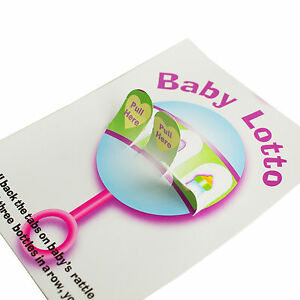 48 Baby Shower Fun Party Lottery Games Raffle BABY LOTTO PICKLE CARDS