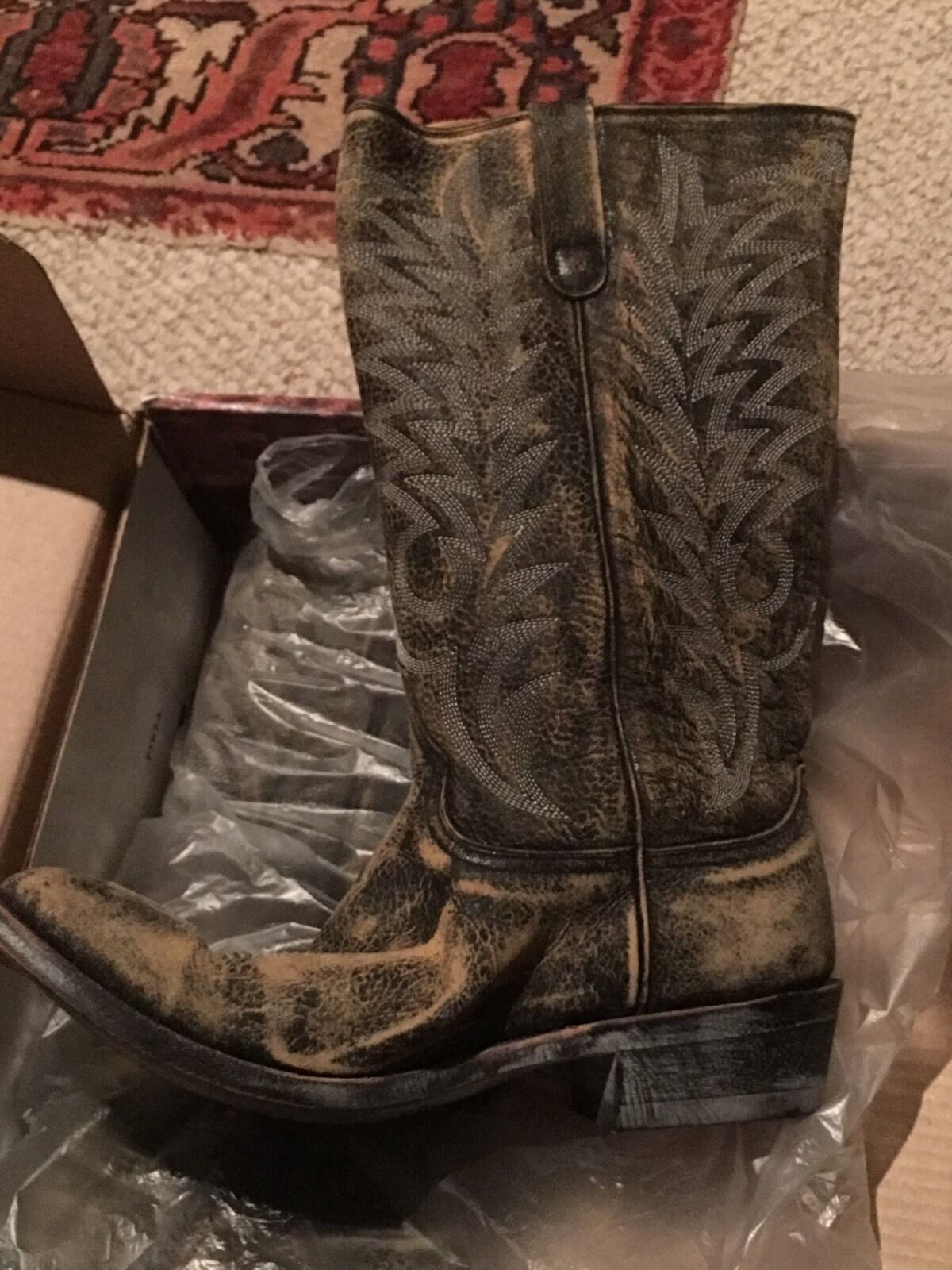 OLD GRINGO Western Cowboy Black Leather Boots Razz 13  Size 10