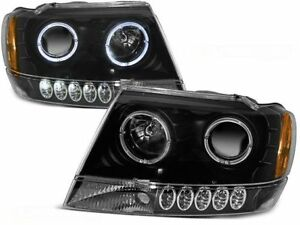 Charming Image Is Loading RINGS HEADLIGHTS LPCH02 JEEP GRAND CHEROKEE 1999 2000