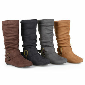 73a61d64fb0 Journee Collection Womens Wide Calf Buckle Slouch Mid Calf Boots New ...