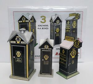 1920s-1950s-AA-TELEPHONE-BOXES-X-3-1-43-SCALE-MODEL-A5-FULL-COLOUR-CARD-KIT