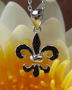 Ketten Nr Fleur de Lis  Lys Blume Frankreich Anhänger 925 Silber Div 334