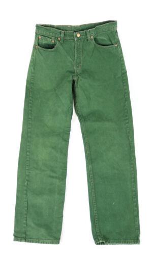 Rare Vintage Levis 554 Distressed Green Denim Jean