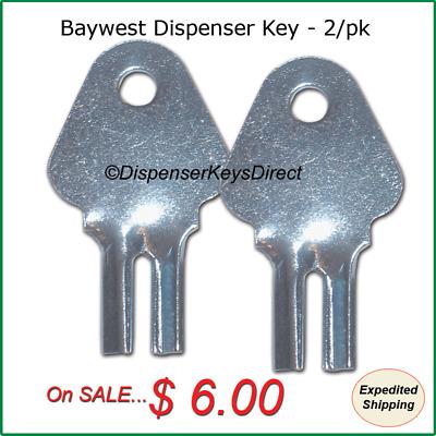 6//pk. Toilet Tissue Dispensers Baywest #1200 Dispenser Key for Paper Towel