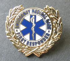 EMS Emergency Medical Services Mini Badge Lapel Pin EMT Rescue Gold
