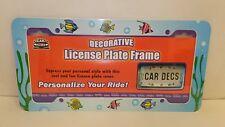 Decorative License Plate Frame, Fish Design (LP00654)