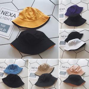 Unisex-Cotton-Men-Women-Bucket-Hat-Fishing-Fisher-Beach-Sun-Cap-Hats-Fashion-nYJ