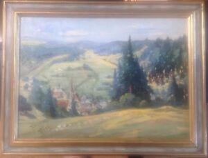 OLGEMALDE-FITTING-OBERBAYERN-EICHSTADT-OLGEMALDE-1934-RAHMEN-SIGNIERT-ANTIK