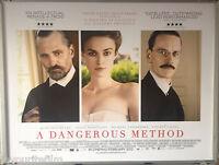 Cinema Poster: A DANGEROUS METHOD 2012 (Quad) Michael Fassbender Keira Knightley