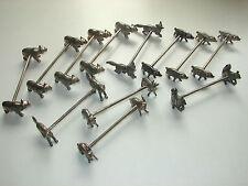 12 antike Messerbänke, WMF -  diverse Tiere