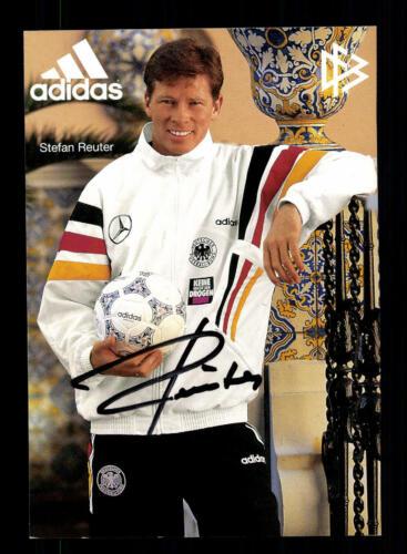 Stefan Reuter  Autogrammkarte DFB 1996 Original Signiert