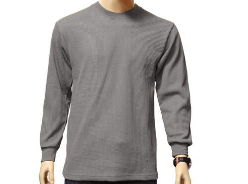 New Men/'s Gem Rock Long Sleeve Thermal Light Grey Size Large Brand New!