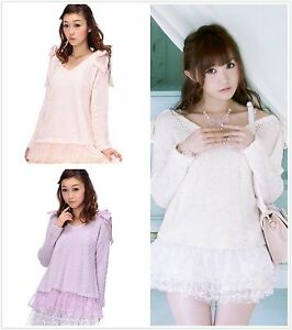 Genuine-Liz-Lisa-shoulder-ribbon-knit-top-Brand-New-with-Tags-3-colours