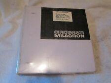Cincinnati Milacron 20 V Series 5 Axis Vertical Profiling Milling Machine Manual