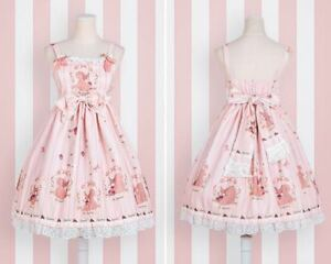 Cute-Princess-Mori-Girls-JSK-Dress-Lolita-Squirrel-Floral-Print-Sleeveless-Dress
