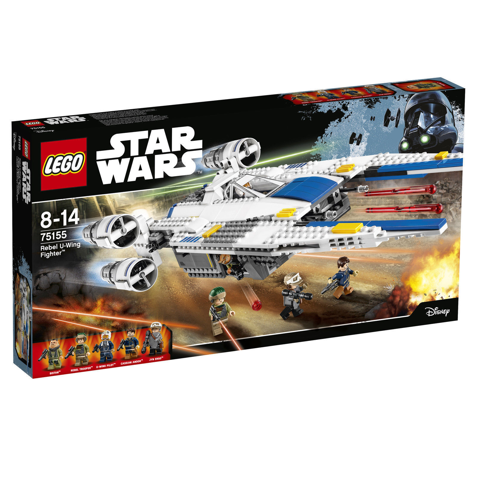 LEGO 75155 Star Wars U-Wing Fighter Sternenjäger Erso Jyn Rogue One NEU OVP