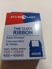 Nib 4000r Pyramid Time Clock Ink Ribbon Cartridge 3500 3700hd Amp 4000 4000hd