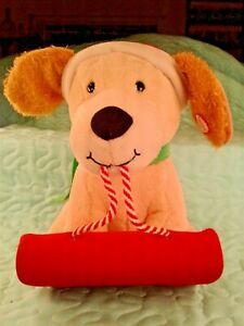 Hallmark-Christmas-Animated-Plush-Dog-on-Sled-Barks-amp-Pants-Sound-amp-Motion