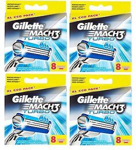 GILLETTE-MACH-3-TURBO-RASIERKLINGEN-32-STUCK-NEU