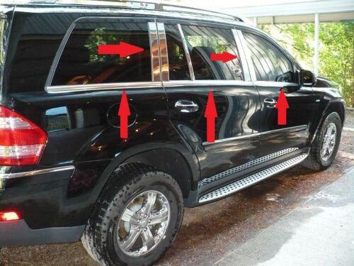 Mercedes X164 GL CLASS GL320 Chrome Windows /& Pillar Trim Stainless Steel 07-12