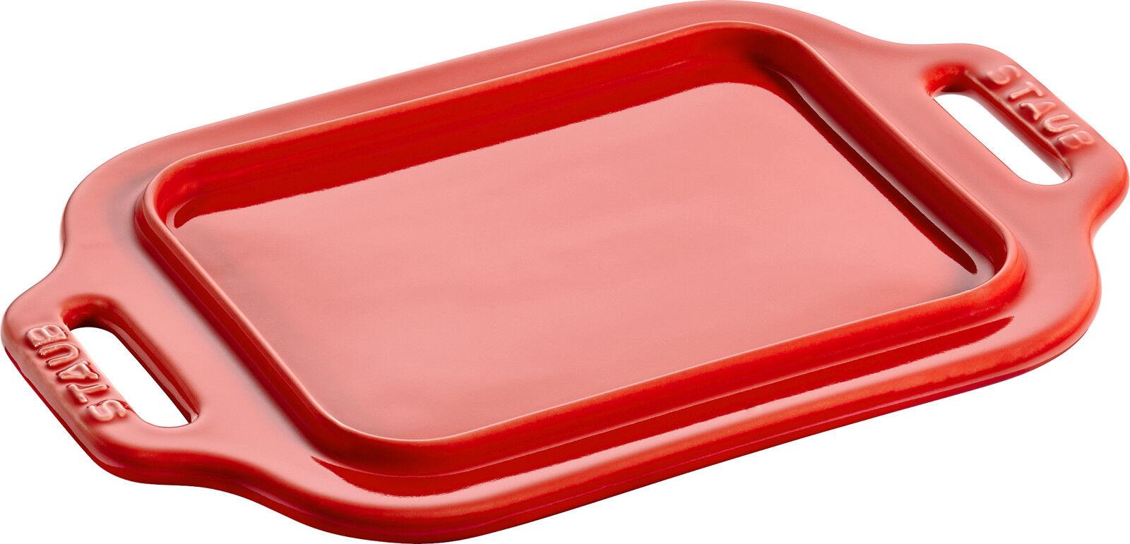 STAUB céramique Beurrier Rouge cerise 18,7 x 12 cm lave-vaisselle