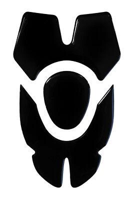 Bellissimo Cuscinetto Serbatoio 3d Black/nero 502008 Compatibile Bmw Kawasaki Yamaha Honda Triumph Ktm- Luminoso E Traslucido Nell'Apparenza