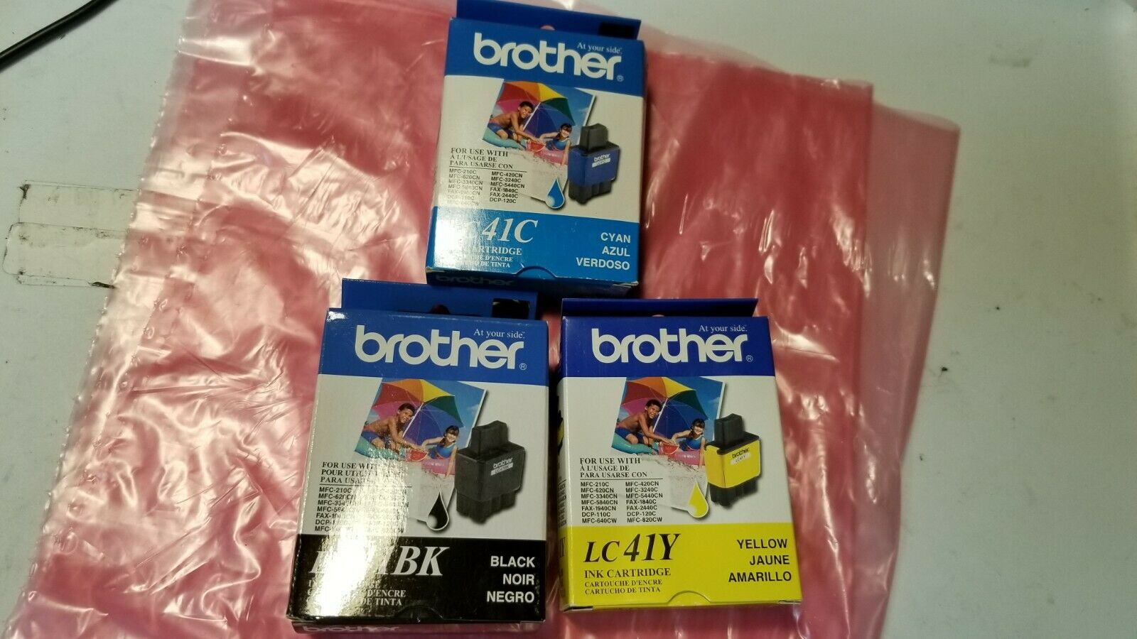 Awesometoner 4PK NON-OEM LC41 Set For Brother LC41BK LC41C LC41M LC41Y Ink Cartridge For MFC-410CN MFC-420CN MFC-5440CN MFC-5840CN MFC-620CN MFC-640CW MFC-820CW!