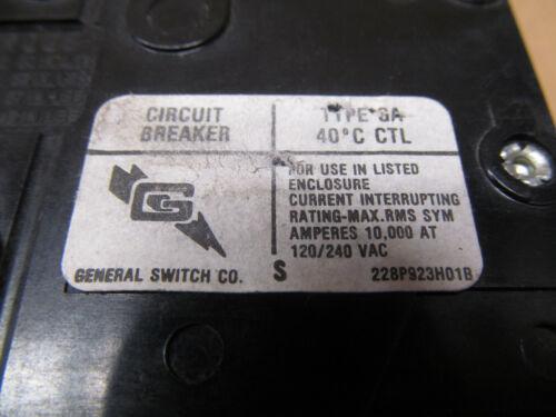 GENERAL SWITCH GA GA270 70 AMP 2 P 120//240 VAC CIRCUIT BREAKER YELLOW 4 AVAIL