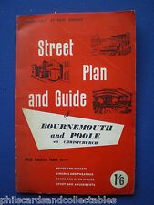 Bournemouth, Poole and Christchurch Street Plan and Guide    c1965