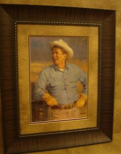 "ANDY THOMAS FRAMED /""REAGAN/"" OPEN EDITION PRINT **US PRESIDENT**"