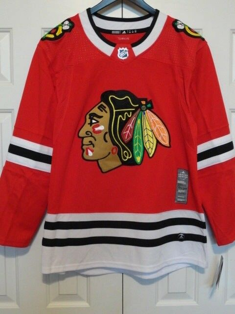 ea1303ceb47 adidas Chicago Blackhawks Authentic Pro NHL Hockey Jersey Size 52 Ca7076  for sale online