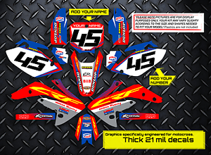 RED BLUE DECALS 2017 2018 CRF 450R GRAPHICS KIT HONDA CRF450R 450 R FACTORY