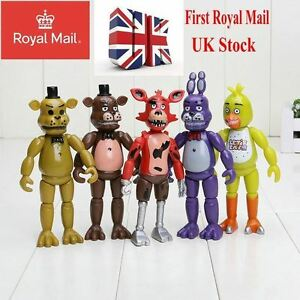 5X Five Nights at Freddy's FNAF Action Figures Bonnie Chica Foxy Bear UK Stock