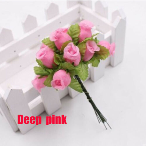 Home Decoration Mini Silk Bouquet Simulated Rose Artificial Flower Handmade
