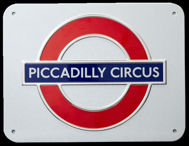 London Underground Tube Train Station Plaque Métal Tin Signer d/'autres en vente 167