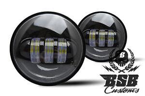 LED-Zusatzscheinwerfer-schwarz-Harley-Davidson-4-5-Zoll-FLSTN-FLHX-FLH