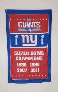 390e4f75 Details about New York Giants Super Bowl Banner Flag 3x5 Ft NFL Football  Man Cave G-Men