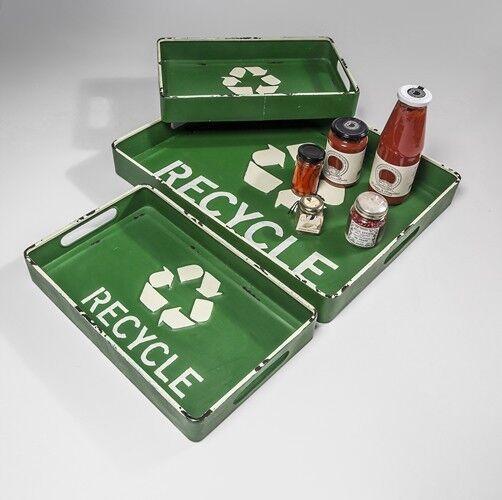 Plateau 3er-set Acier Dekotablett Retro Recycle Shabby Haute Qualité bibliothécaires Design