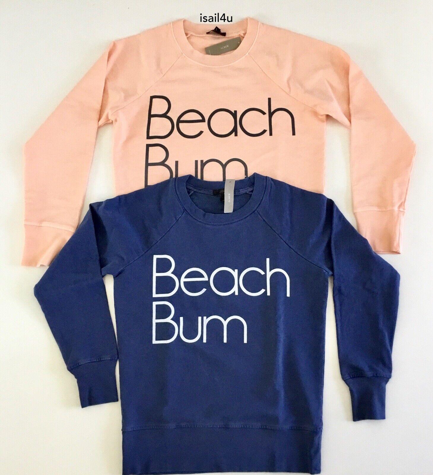 "J.Crew ""Beach Bum"" Sweatshirt NWT"