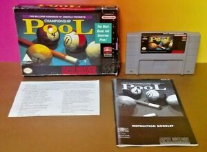 Championship-Pool-SNES-Super-Nintendo-AUTHENTIC-Tested-Game-Complete-w-Manual