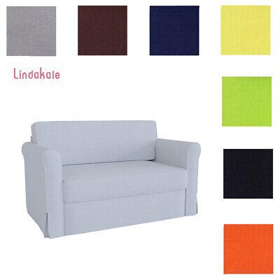 Nach Maß Abdeckung Passend für IKEA Hagalund 2er Bettsofa Sofabezug 43 Optionen