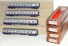 4x Liliput Personenwagen Rheingold: 2x 24 503, 24 512, 20 508 H0