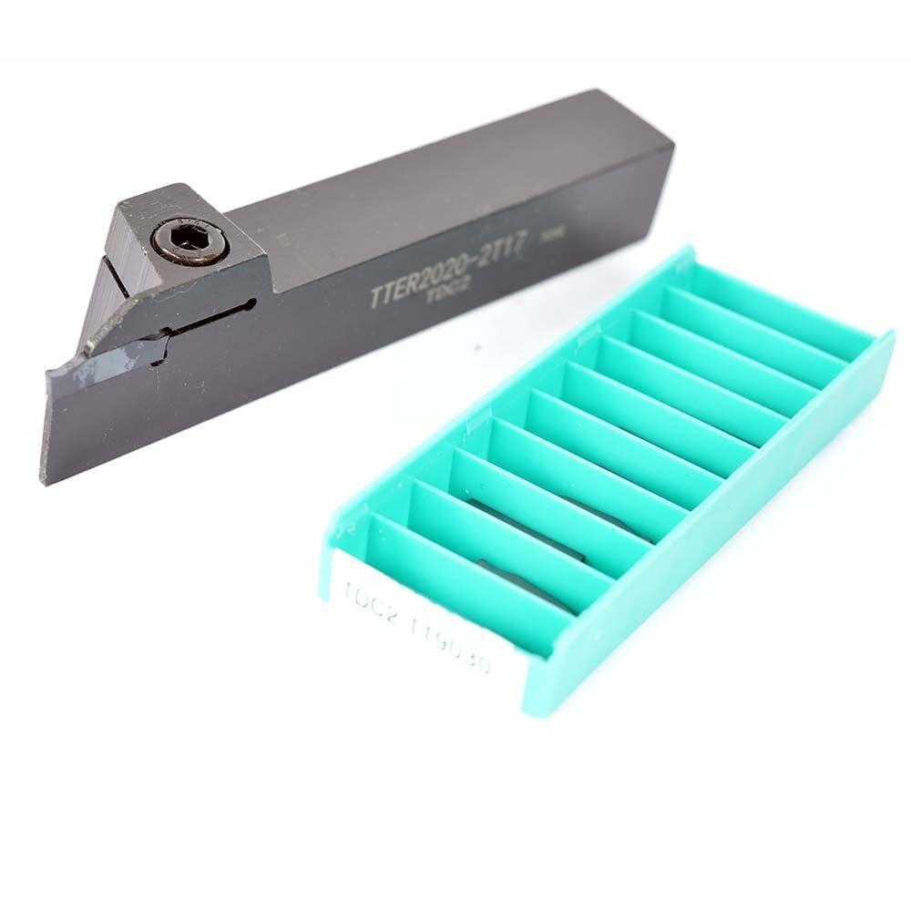 TTER2525-2T17 25mm grooving cuttting holder for 2mm insert 10*  TDC2 TT9030