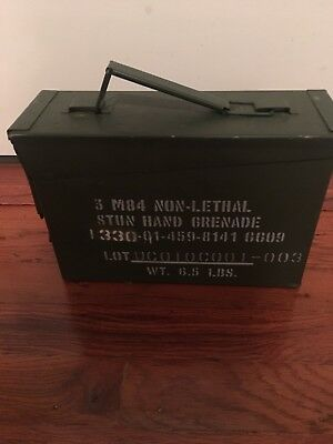 30 Cal Military AMMO Can M19A1 used for Stun Grenade/'s Grade A Rare Collectible