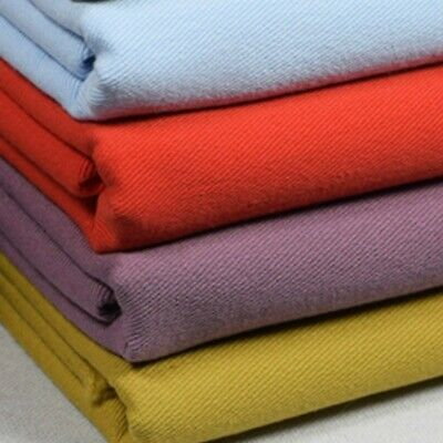 100/% Cotton Fabric Twill Solid Cloth Quilting Sewing Coat Pants Patchwork DIY