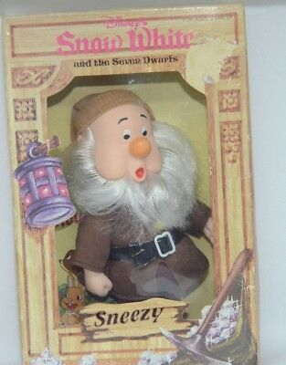 "Dolls & Bears 80's Disney Character Dwarfs Doll ""sneezy"" 6-1/2"" From Snow White Movie Nib Dolls"