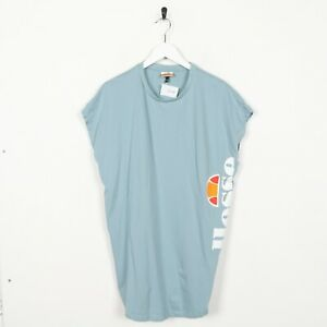 Vintage-ELLESSE-Sleeveless-Big-Logo-Vest-Top-T-Shirt-Tee-Blue-Medium-M